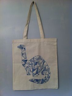 Origami dinosaur illustration tote bag Knitting Tattoo, Dinosaur Tattoos, Dinosaur Illustration, Future Tattoos, Boy Or Girl, Tattoo Designs, Fashion Accessories, Swag, Reusable Tote Bags
