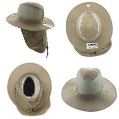 fc909e626419f Jfh Wide Brim Bora Booney Outdoor Safari Summer Hat W Neck Flap Sun  Protection