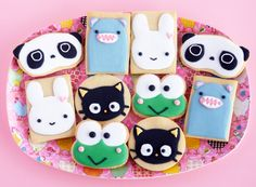 日本人のおやつ♫(^ω^) Japanese Sweets/Cookies キャラクタークッキー各種 Kawaii Cookies Kawaii Cookies, Cute Cookies, Galletas Cookies, Iced Cookies, Sugar Cookies, Cupcakes, Cupcake Cookies, Cookie Arrangements, Paint Cookies