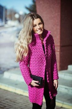 crochelinhasagulhas: Casaco pink em crochê