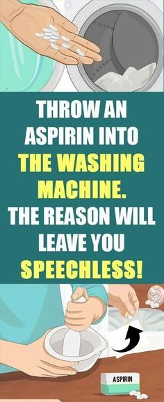 Throw An Aspirin Into The Washing Machine! The Reason Will Leave You Speechless! - Throw An Aspirin Into The Washing Machine! The Reason Will Leave You Speechless! Herbal Remedies, Health Remedies, Home Remedies, Natural Remedies, Yoga Routine, Exercise Routines, Fitness Diet, Health Fitness, Wellness Fitness