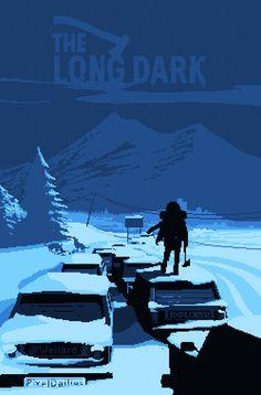 The Long Dark Tribute by Weilard Amazing Drawings, Colorful Drawings, Arte 8 Bits, Pixel Art Background, Mr Cat, The Long Dark, Nuclear Winter, Pixel Animation, Dark Artwork