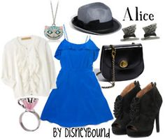 Dress like Alice from Alice in Wonderland: I love the blog! So many outfits inspired by disney.