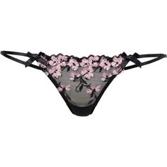 L'Agent By Agent Provocateur Kaity Tanga Brief (£30) ❤ liked on Polyvore featuring intimates, panties, brazilian bikini and brazilian panty