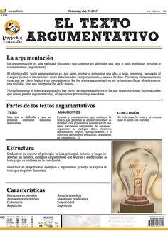 texto argumentativo-estructura y características: