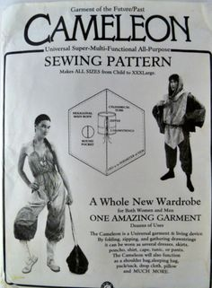 Cameleon Pattern by Garment of the Future Past Survival Garment Multi Function All Sizes Included Uncut p8z