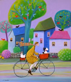 """Spring Mood"" by Iwona Lifsches (this reminds me of another artist, Sam Toft:)"