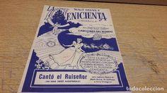 PARTITURA / LA CENICIENTA - WALT DISNEY. CANTÓ EL RUISEÑOR. CANCIONES DEL MUNDO - 1959.
