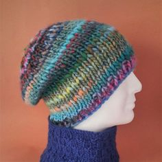 64df5c519b4 SLOUCHY HAT PATTERN Charley Beanie Easy Knit on by artesana ...