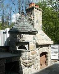 Nice outdoor fireplace/oven combo. @Ellen Burnett pizza oven!! Backyard!?!