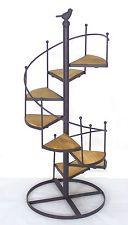 Escalera De Hierro Soporte de planta de tiesto francés provincial Decoración Hogar y Jardín Grande * 59 cm *