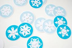 Printable snowflake memory game. The pictures are similar enough to work on visual perceptual issues.