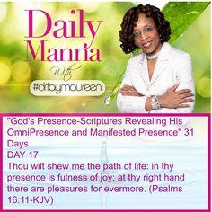 Daily Manna #171 Gods Presence Day 17
