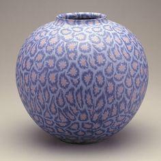 Vase with floral pattern,1990, Higashi Kuniaki , (1941-1992) Marbleized polychrome porcelain, Komatsu City, Japan, Arthur M. Sackler Gallery, Gift of the Japan Foundation- S1993.32
