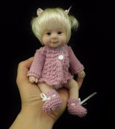 ZOEY-mini-8-5-polymer-clay-art-baby-doll-sculpt-OOAK-by-URSULA