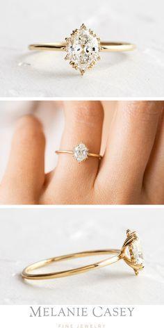Vintage Oval Engagement Rings, Gold Band Engagement Rings, Princess Cut Engagement Rings, Engagement Ring Settings, Vintage Rings, Minimalistic Engagement Ring, Gold Wedding Rings, Wedding Bands, Ring Verlobung