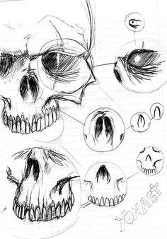 Tutorial como dibujar cráneos(pasos)