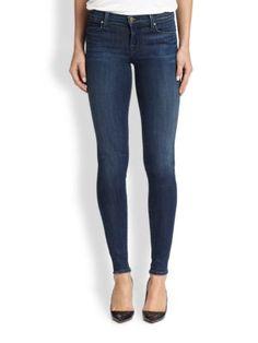 J BRAND - Mid-Rise Super Skinny Jeans