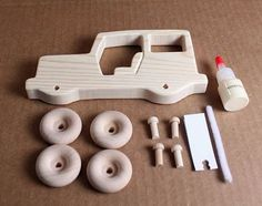 Handcrafted Large Wooden Jeep Kit  105K by mygrandpaswoodentoys
