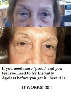 Within 2 minutes, Instantly Ageless reduces the appearance of under-eye bags, fine lines, wrinkles and pores, and lasts 6 to 9 hours. Latina, Under Eye Bags, Face Wrinkles, Beautiful Lips, Look Younger, Pure Beauty, Revolutionaries, Woman Face, It Works