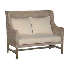 Crafted Home Abbotsford Casual Off-White (Beige) Textured Chair  (Rattan)
