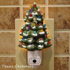 Ceramic Christmas Tree with Snow Night Light by TexasCeramics, $25.00