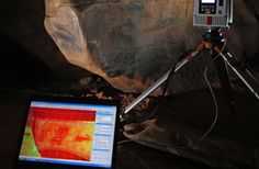 Analysis of rock and cave art often employs non-destructive, high-tech tools, such as this high-resolution laser scanner operated by the RLS group in Chattanooga, Tenn. It precisely records the ancient art for conservation and analysis.