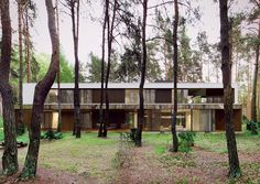 marcin tomaszewski of local architecture practice reform architekt has created a dwelling that appears to float amid its woodland setting.