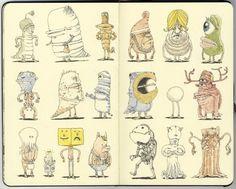 Sketchbook drawings by Mattias Adolfsson