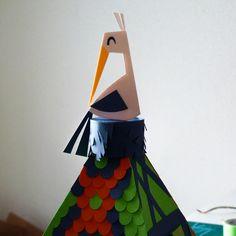 Paper cut : cigogne en Alsace by Camille Epplin
