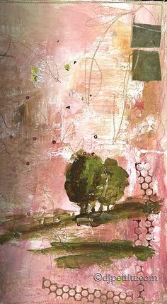 painted, fused and stitched book cover by dj pettitt, via Flickr