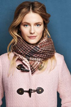 Women's Brushed Plaid Scarf from Lands' End