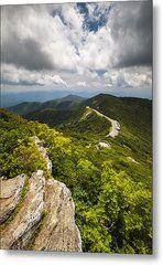 Blue Ridge Parkway Craggy Gardens Asheville Nc - Craggy Pinnacle Metal Print by Dave Allen