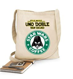 Bolso Star Wars Coffe Doble#starwars #camiseta http://www.latostadora.com/emcmasquecamisetas