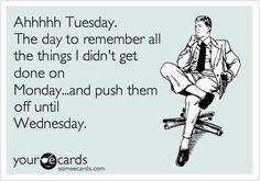 Ahhh Tuesday