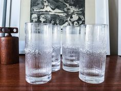 Rare set Wirkkala Tall Beer Tumblers Iittala by CaribeCasualShop