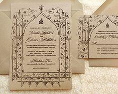 Fairy tale fantasy wedding invitation Alternative magical