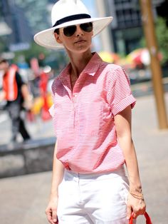 French Stripes And New York Sunshine  #Hats #Shirts & Blouses #Pants