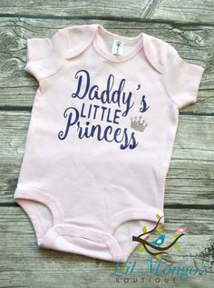 Daddy's Little Princess  Graphic Tee Baby by LilMongosBoutique