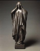Sir Edgar Bertram Mackennal (1863-1931) - Mourning female figure