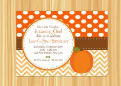 Custom Printable Little Pumpkin Baby Shower by ThePaperGiraffeShop, $10.00