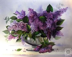 Valevskaya Valentina. Lilac bouquet