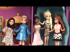 Poupées Princesses Disney Magiclip Vêtements Polly Pocket 4ème séance d'essayage - YouTube