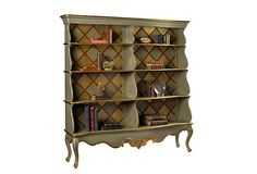 Love the color scheme and the backs of this bookcase.  Gonna' replicate it on some I have already.