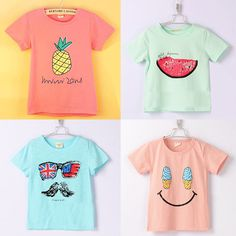 Boys and Girls Multicolor T-Shirt -- Price: $8.78 ---- FREE Shipping Worldwide  https://gookiddy.com/boys-and-girls-multicolor-t-shirt/    #kids_brand #kids_fashion_city