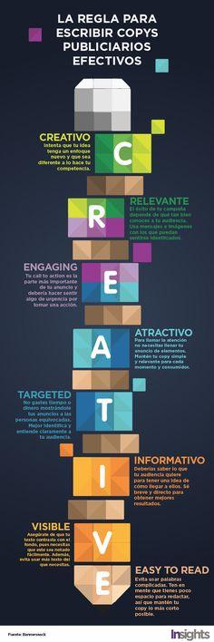 8 Claves para crear un copy efectivo  #infografía #infographic #marketing #copywriting