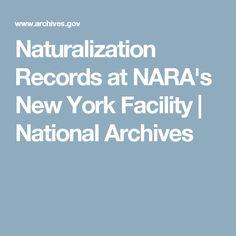 Naturalization Records at NARA's New York Facility | National Archives