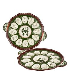Look what I found on #zulily! Green Floral Lace Egg Tray - Set of Two #zulilyfinds