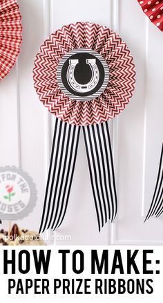 Celebrate the Kentucky Derby from home! From recipes to DIY ideas, we have 5 fabulous ways to host a Kentucky Derby Party! Horse Racing Party, Horse Party, Paper Rosettes, Paper Ribbon, Pony Party, Ascot, Race Night, Run For The Roses, Derby Day