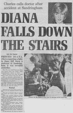 The Daily Mail - Princess Diana Falls Down The Stairs